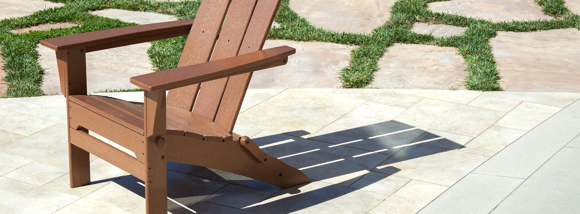 Brown Adirondack Chairs