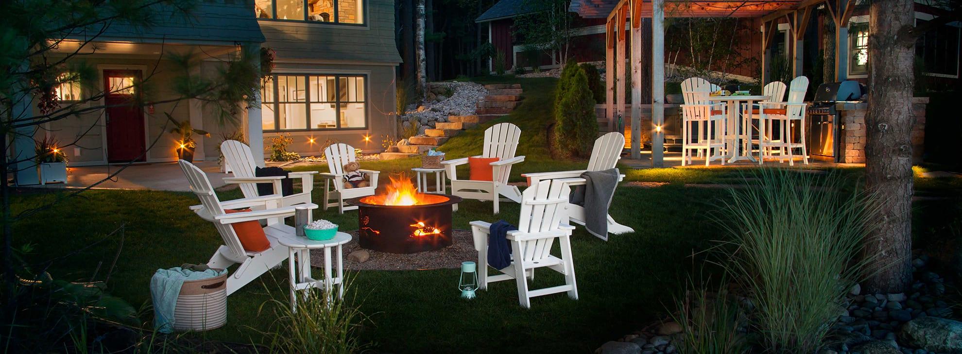 Palm Coast chairs around a firepit