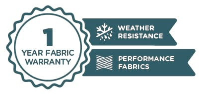 1 Year Fabric Warranty | Weather Resistance | Performance Fabrics